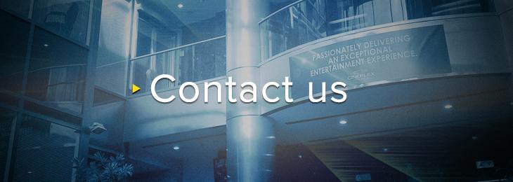 Cineplex IR Contact Us