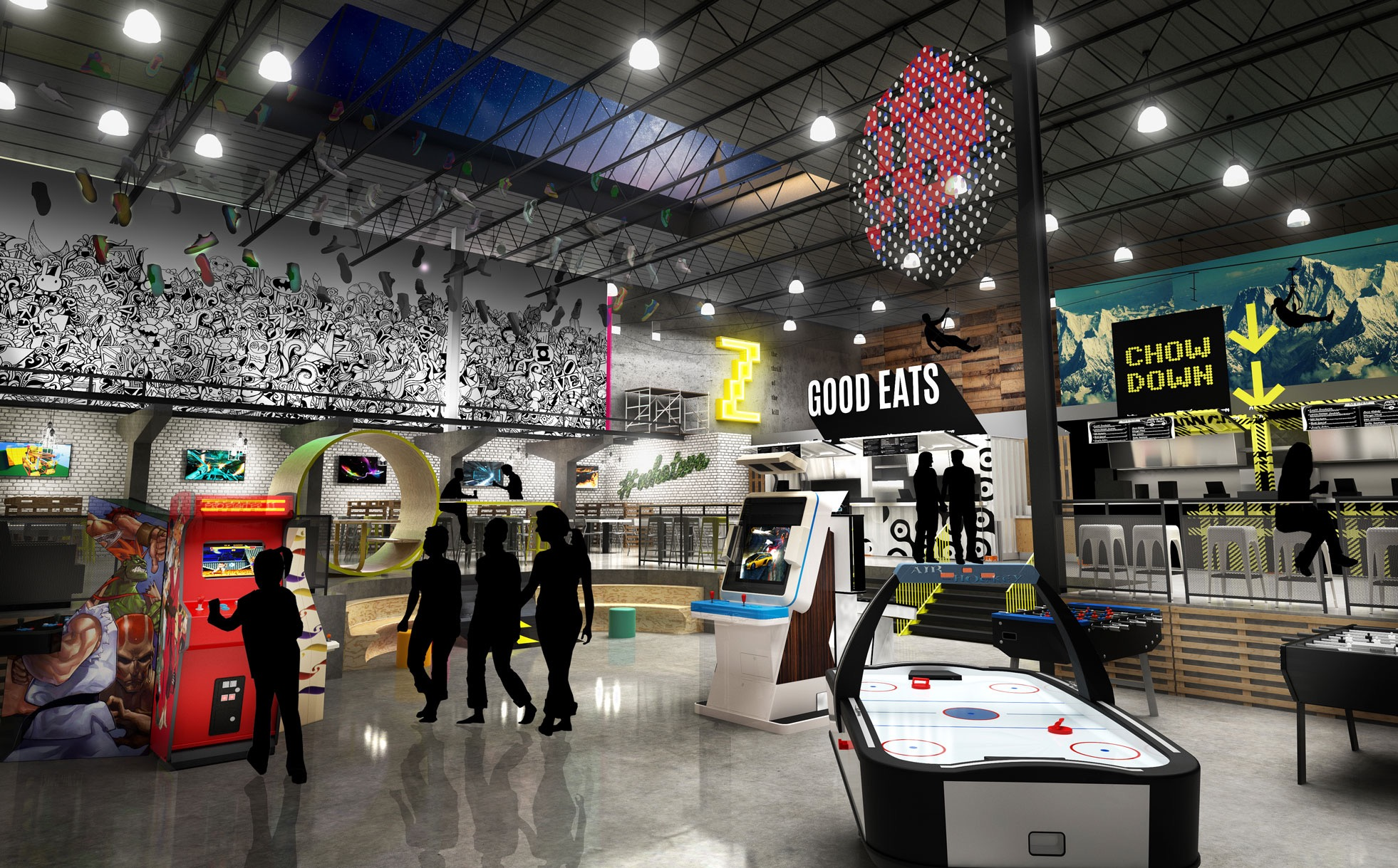 Playdium Whitby Rendering Interior
